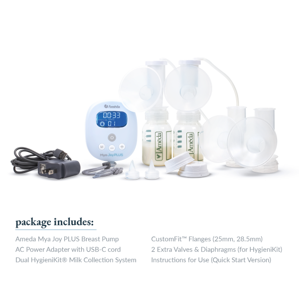Ameda Mya Joy PLUS Rechargeable, Quiet, and Portable Double Breast Pump