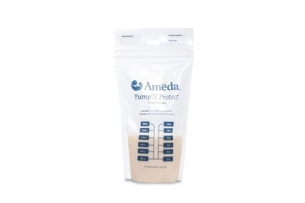 Ameda Pump'N Protect 6 Ounce Milk Storage Bags
